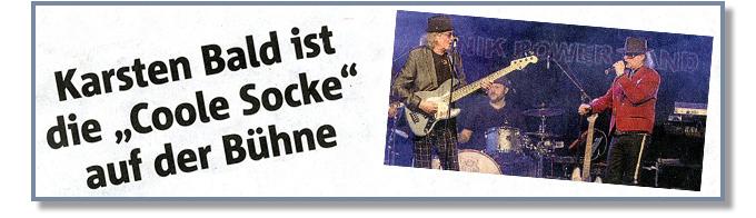 Udo Lindenberg Double Karsten Bald ist die 'Coole Socke' auf der Bühne. [Ruhr-Nachrichten vom 16.01.2018]