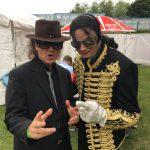 Double mal zwei: Michael Jackson und Udo Lindenberg (Karsten Bald), Beach Party Duisburg 2016