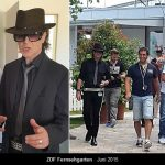 Robert Geiss Doppelgänger und Udo Lindenberg Double Karsten Bald zusammen als Walking Act im ZDF Fernsehgarten 2015