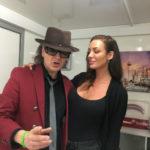 Udo Lindenberg Doppelgänger Karsten Bald mit Angelina Jolie Double