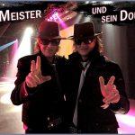 Der echte Udo Lindenberg und sein Double Karsten Bald, Backstage bei der 1 Live Krone